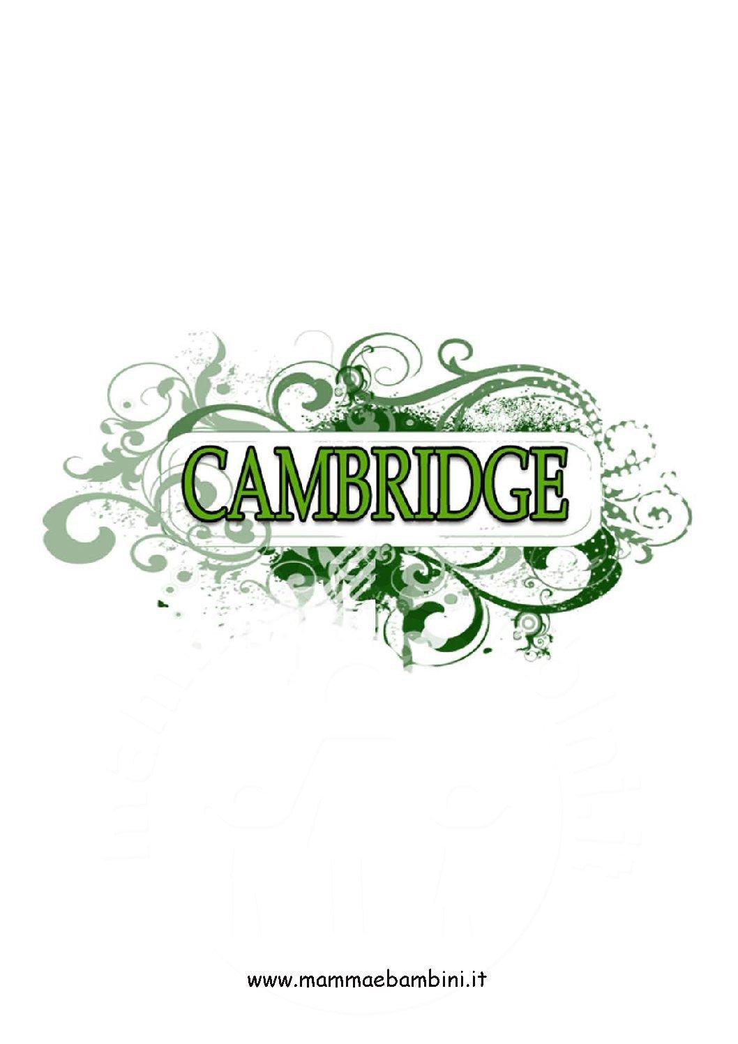Copertina Cambridge colorata da stampare