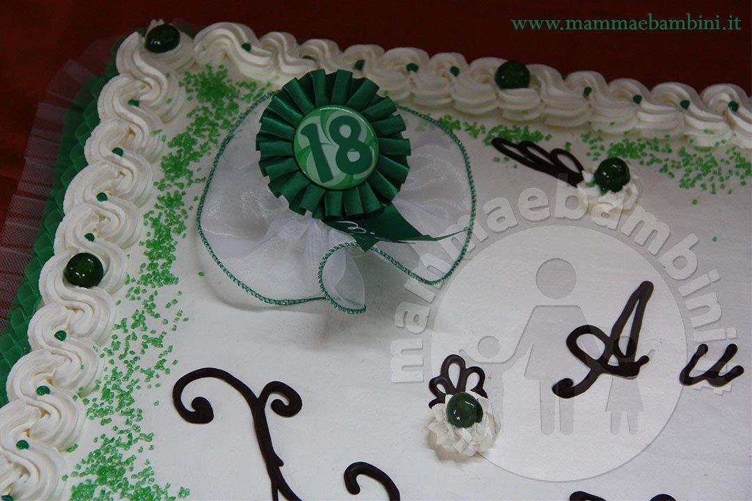 Torta compleanno 18 anni con panna mamma e bambini for Decorazioni torte uomo con panna