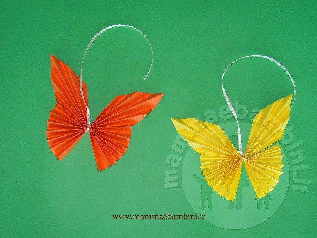 Tutorial farfalle di carta a fisarmonica mamma e bambini for Immagini farfalle per desktop