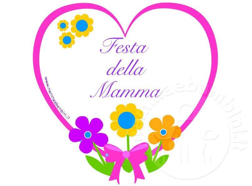 Biglietto Festa Della Mamma Da Stampare Mamma E Bambini