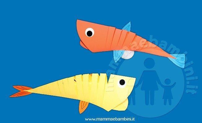 Lavoretto realizzare pesce di carta mamma e bambini for Pesci per laghetti esterni