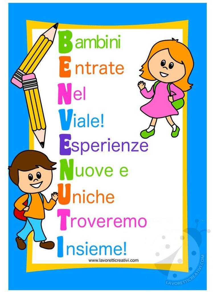 Raccolta cartelloni accoglienza scuola per bambini mamma for Lavoretti creativi accoglienza