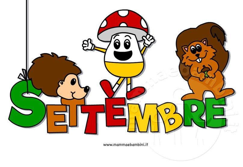 Scritta settembre colorata