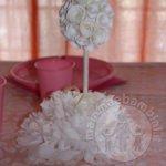 Centrotavola con roselline bianche