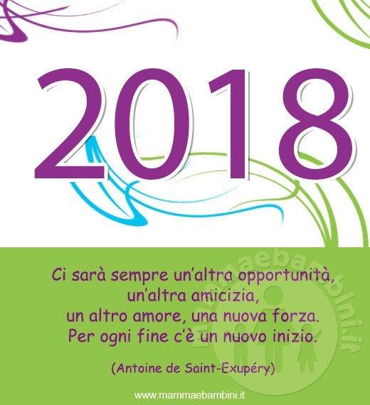 Eccezionale Frasi auguri nuovo anno 2018 - Mamma e Bambini LE26