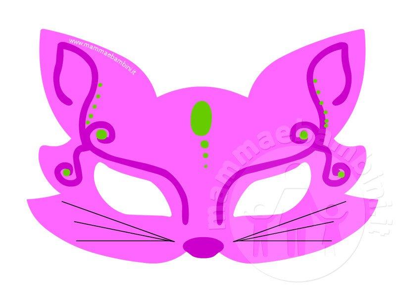 Carnevale maschera gatto da stampare