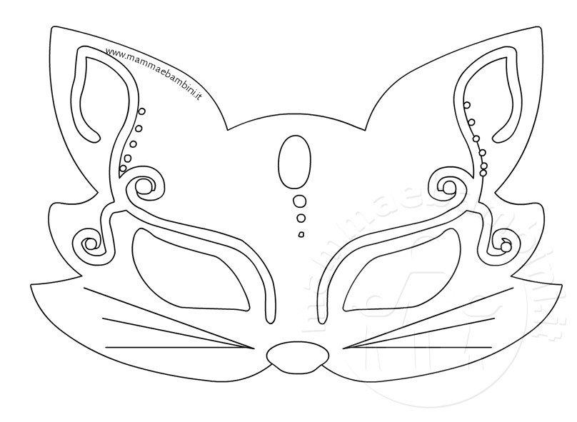 Carnevale maschera gatto da stampare mamma e bambini - Pirata colorazione pirata stampabili ...