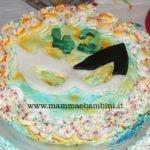 Torta colorata per Carnevale