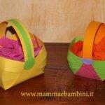Lavoretti Pasqua cestini di carta