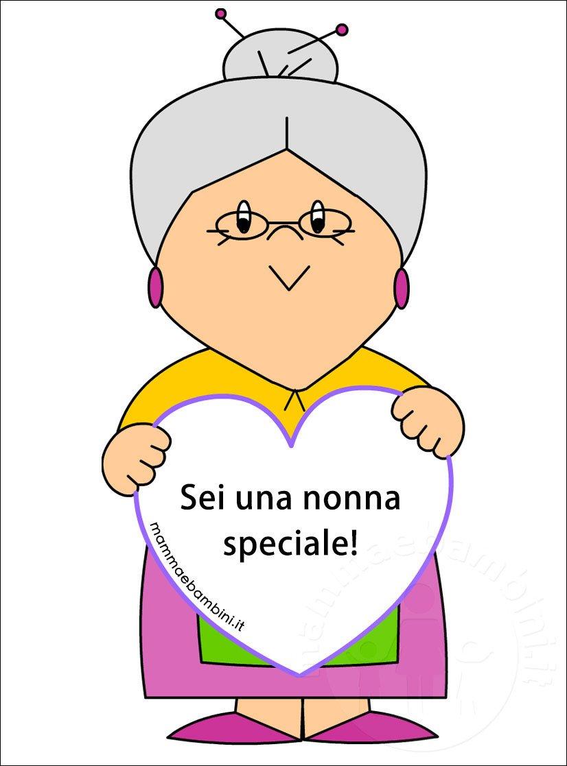 Auguri Matrimonio Nonna : Disegni nonna con frasi da stampare mamma e bambini