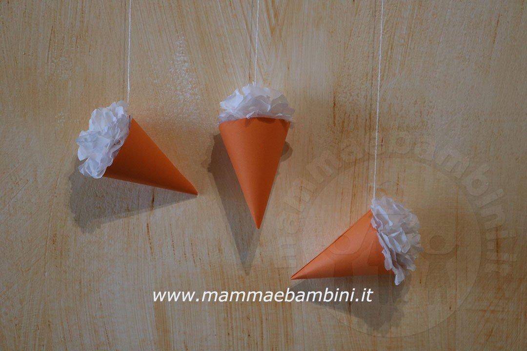 Decorazioni per feste a cono gelato mamma e bambini for Decorazioni per feste