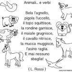 Filastrocca Animali e verbi