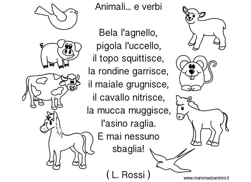 Filastrocca Animali E Verbi Mamma E Bambini