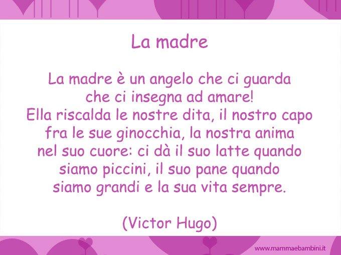 Poesia La madre di Victor Hugo