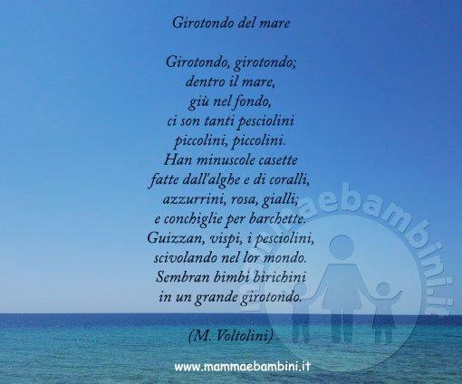 Poesia Girotondo Del Mare Mamma E Bambini