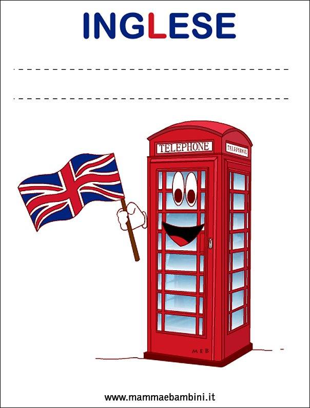 Copertine quaderni per la scuola: inglese