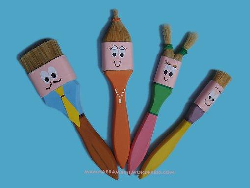Lavoretti per bambini con i pennelli