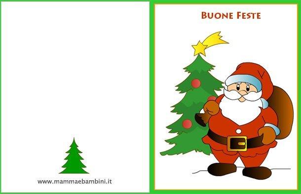 Biglietti Di Auguri Di Natale Per Bambini.Biglietto Auguri Con Babbo Natale Mamma E Bambini