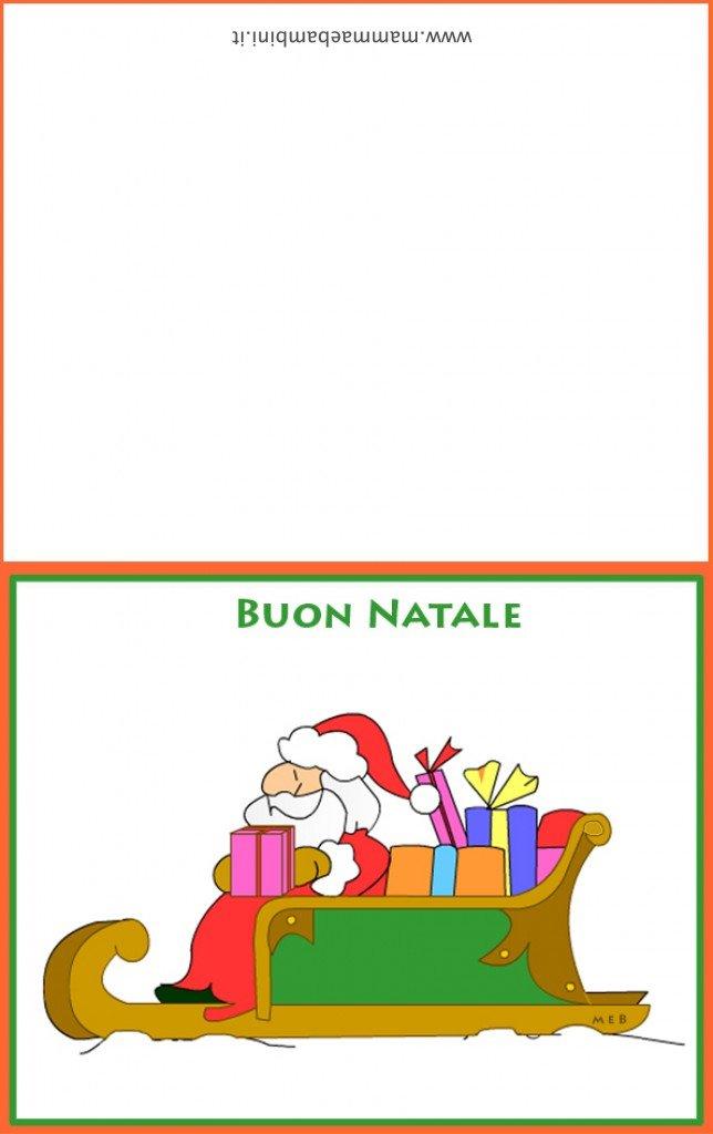Biglietto auguri Natale con slitta