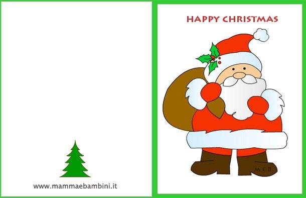 Babbo 4 Natale.Biglietti Auguri Natale Con Babbo Natale Mamma E Bambini
