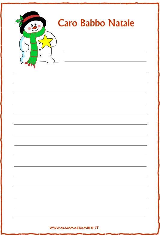 Lettera Babbo Natale Da Stampare.Letterine Di Natale Da Stampare Mamma E Bambini