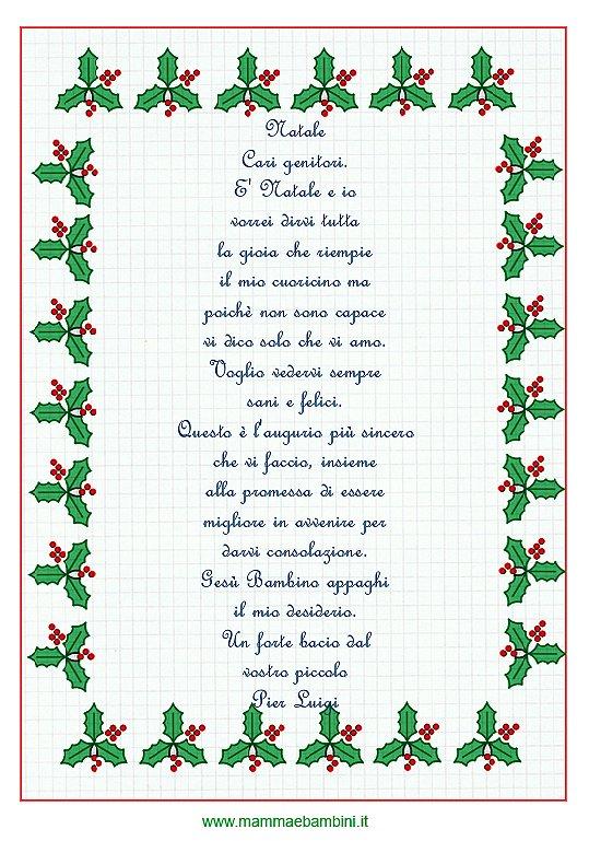 Letterina di Natale di un bambino piccino