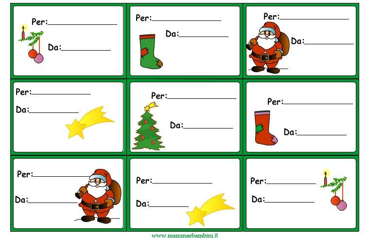 Etichette Per Regali Di Natale Da Stampare.Biglietti Per Regali Di Natale Da Stampare