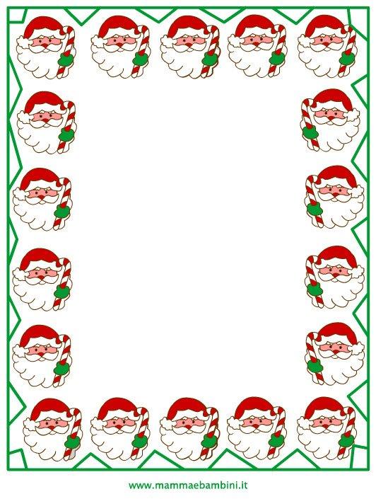 Cornicette Babbo Natale.Cornicette Per Natale Da Colorare Mamma E Bambini