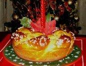 Dolci natalizi: corona augurale