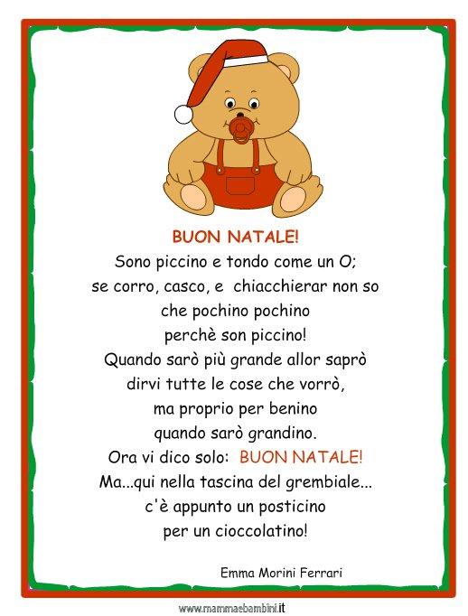 Buon Natale Del C Testo.Poesia Natale Con Cornice Buon Natale Mamma E Bambini