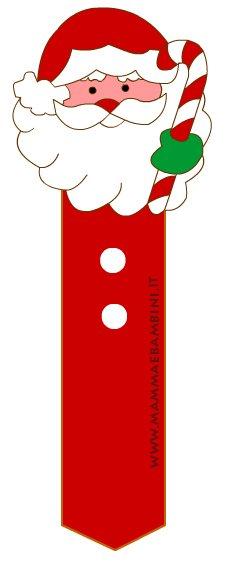 Segnalibri natalizi: Babbo Natale