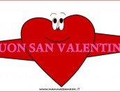 Biglietto auguri S. Valentino: cuore con scritta