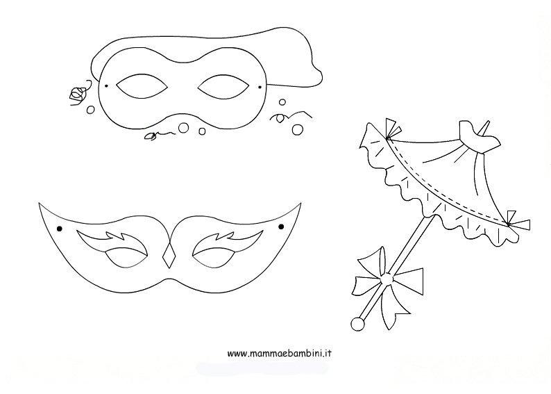 Carnevale disegni da colorare mamma e bambini for Schede carnevale da colorare