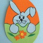 Biglietto auguri per Pasqua: coniglio