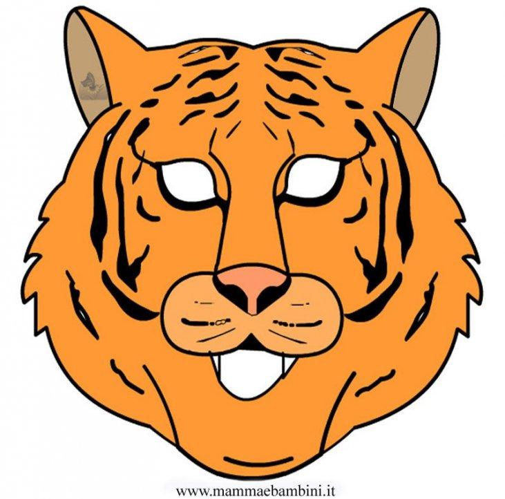 Carnevale Maschera Tigre Da Stampare Mamma E Bambini