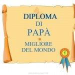 Diploma di papà migliore del mondo