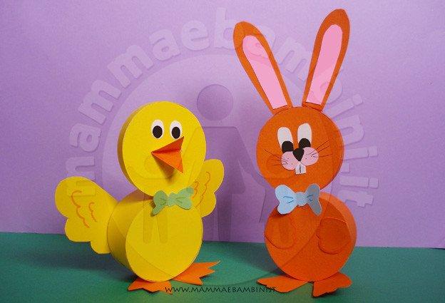Lavoretti per pasqua coniglio mamma e bambini - Lettere stampabili del coniglietto di pasqua ...