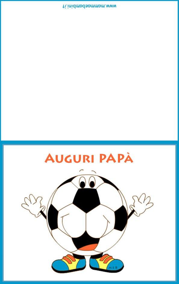 Biglietto auguri per papà con pallone