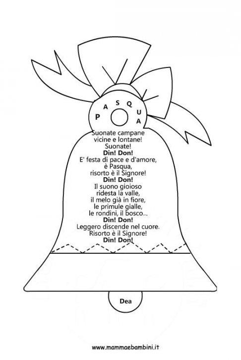 Suono Campane A Festa.Poesia Pasqua Mamma E Bambini