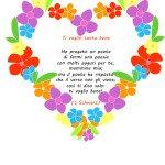 Poesia sulla mamma con cornice di fiori