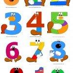 Numeri da stampare e colorare per bambini