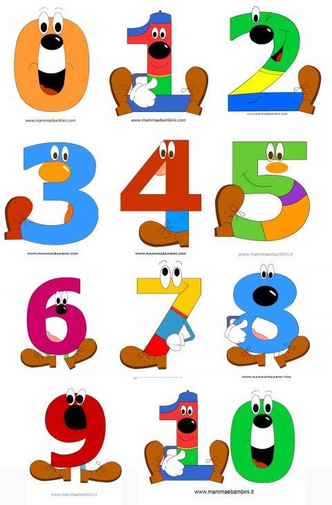 Numeri Da Stampare E Colorare Per Bambini Mamma E Bambini