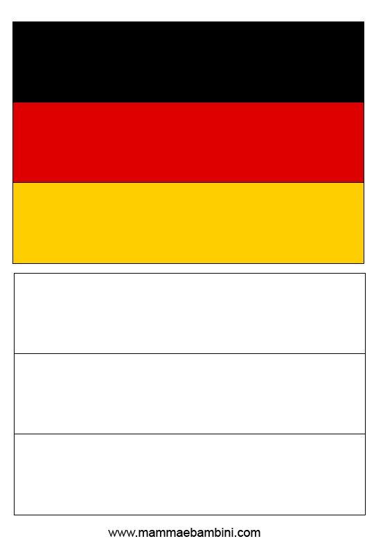 Le Bandiere Da Stampare E Colorare Germania E Spagna Mamma E Bambini