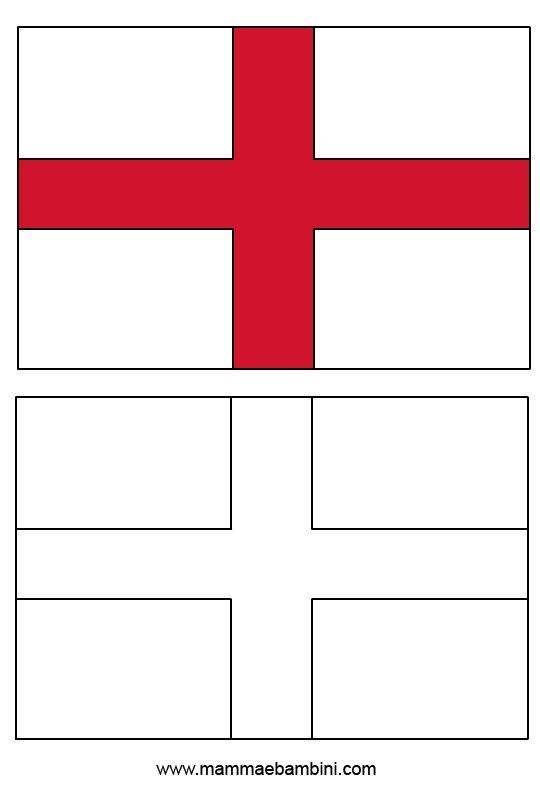 Bandiera Inglese Da Colorare.Le Bandiere Da Colorare E Stampare Sudafrica E Inghilterra