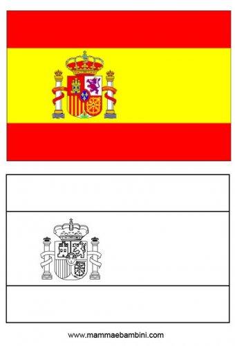 Le Bandiere Da Stampare E Colorare Germania E Spagna