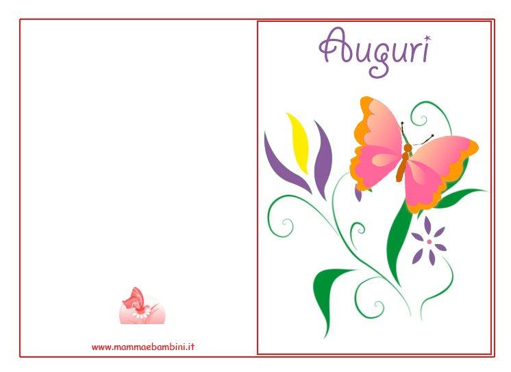 Biglietto Auguri Compleanno Con Farfalla Mamma E Bambini