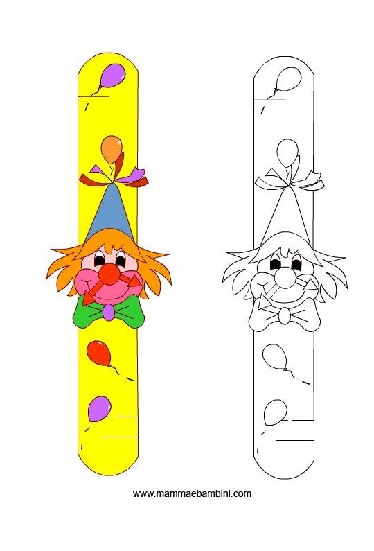 Creare orologio da polso per bambini mamma e bambini for Disegno pagliaccio da colorare