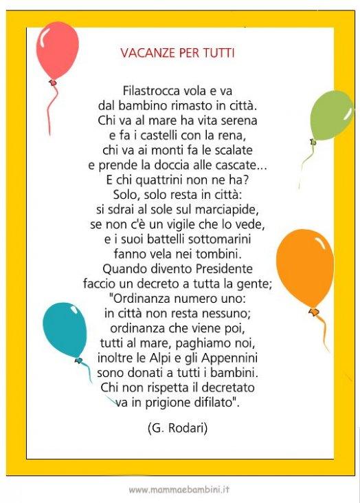 Poesia Con Cornice Vacanze Per Tutti Mamma E Bambini