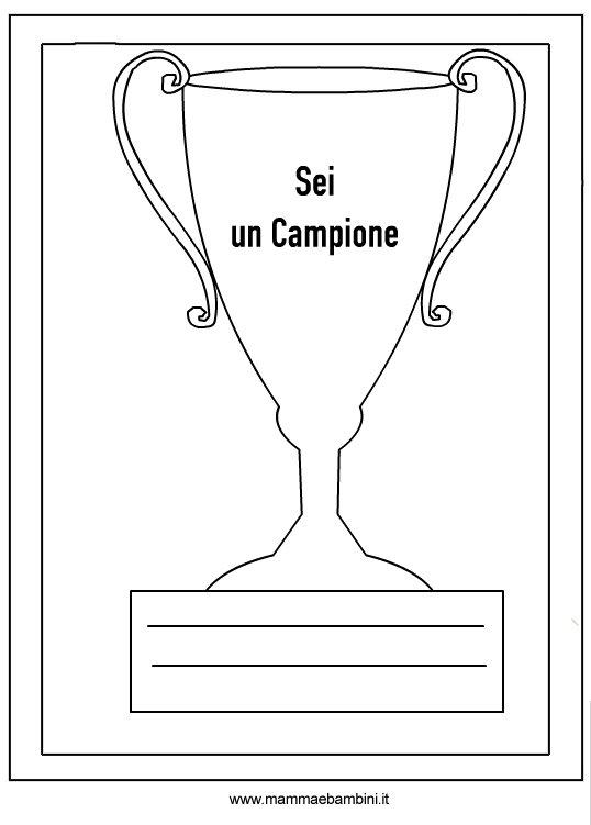 Disegni Per Bambini Coppa Da Stampare E Colorare Mamma E Bambini