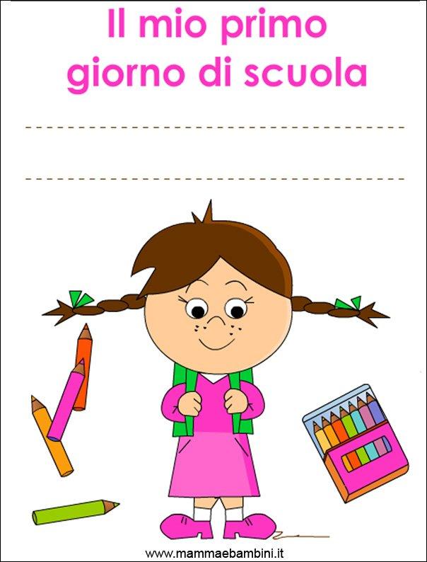 copertina primo giorno scuola rosa
